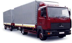 MAZ 437130-331 tilt truck + tilt trailer