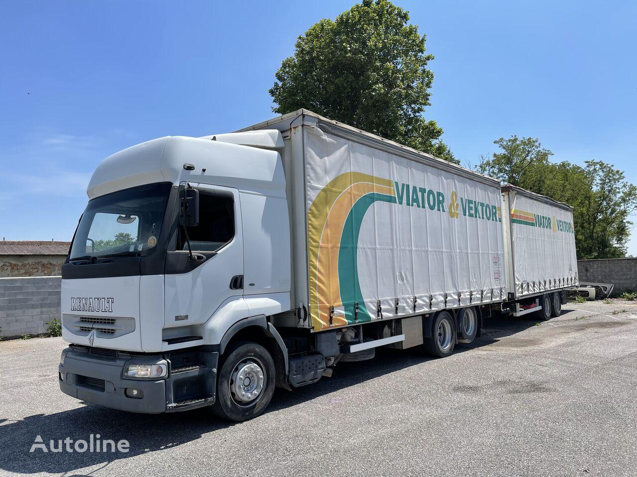 RENAULT Premium 420 tilt truck + tilt trailer