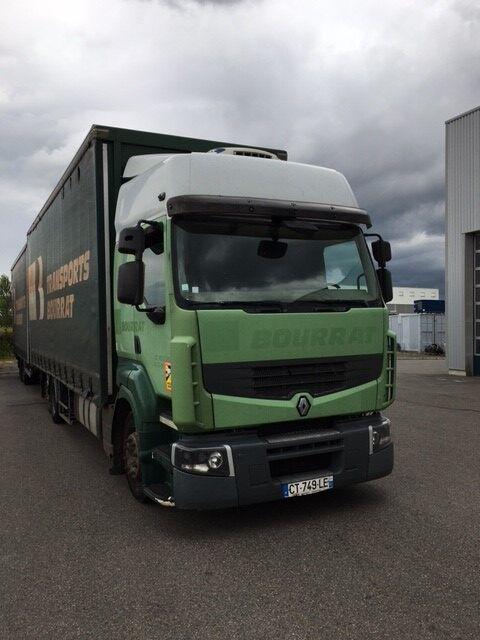 RENAULT Premium 450 tilt truck + tilt trailer