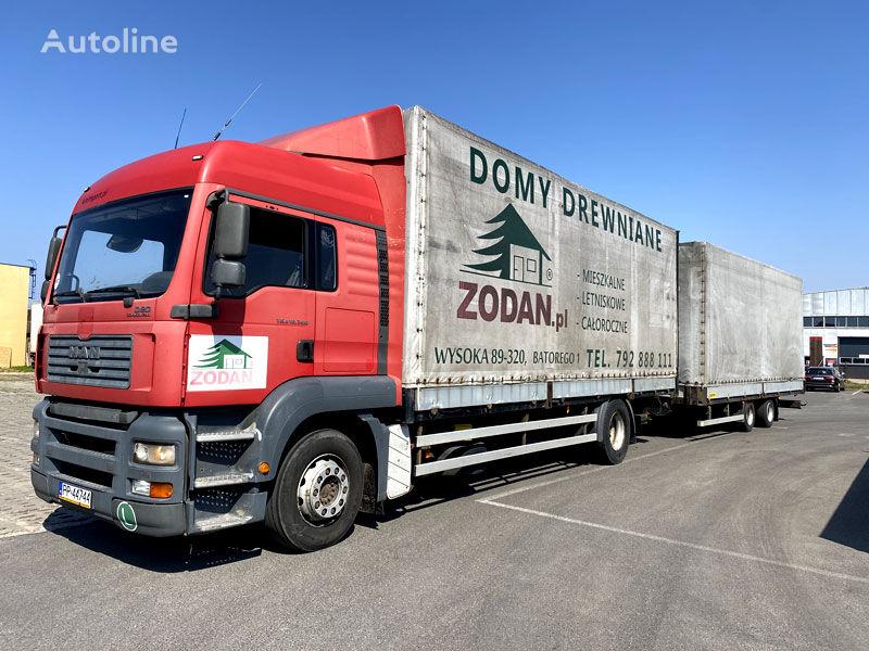 MAN TGA 18.390 4x2 + 2-Achs  tilt truck + tilt trailer