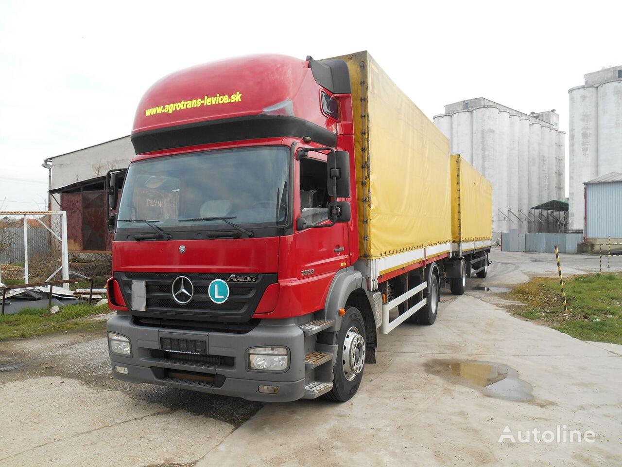 MERCEDES-BENZ AXOR 1833  tilt truck + tilt trailer