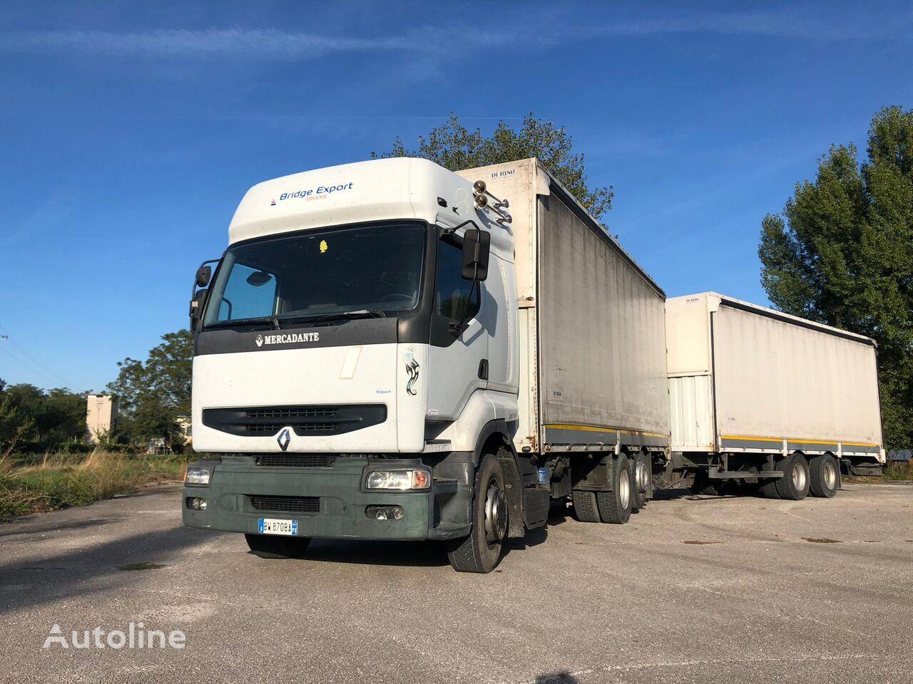 RENAULT PREMIUM 420 DCI + biga Omar tilt truck + tilt trailer
