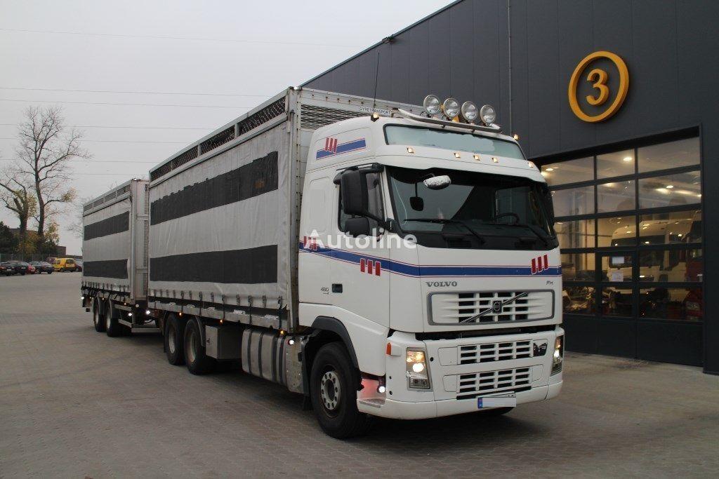 VOLVO FH12.480  tilt truck + tilt trailer