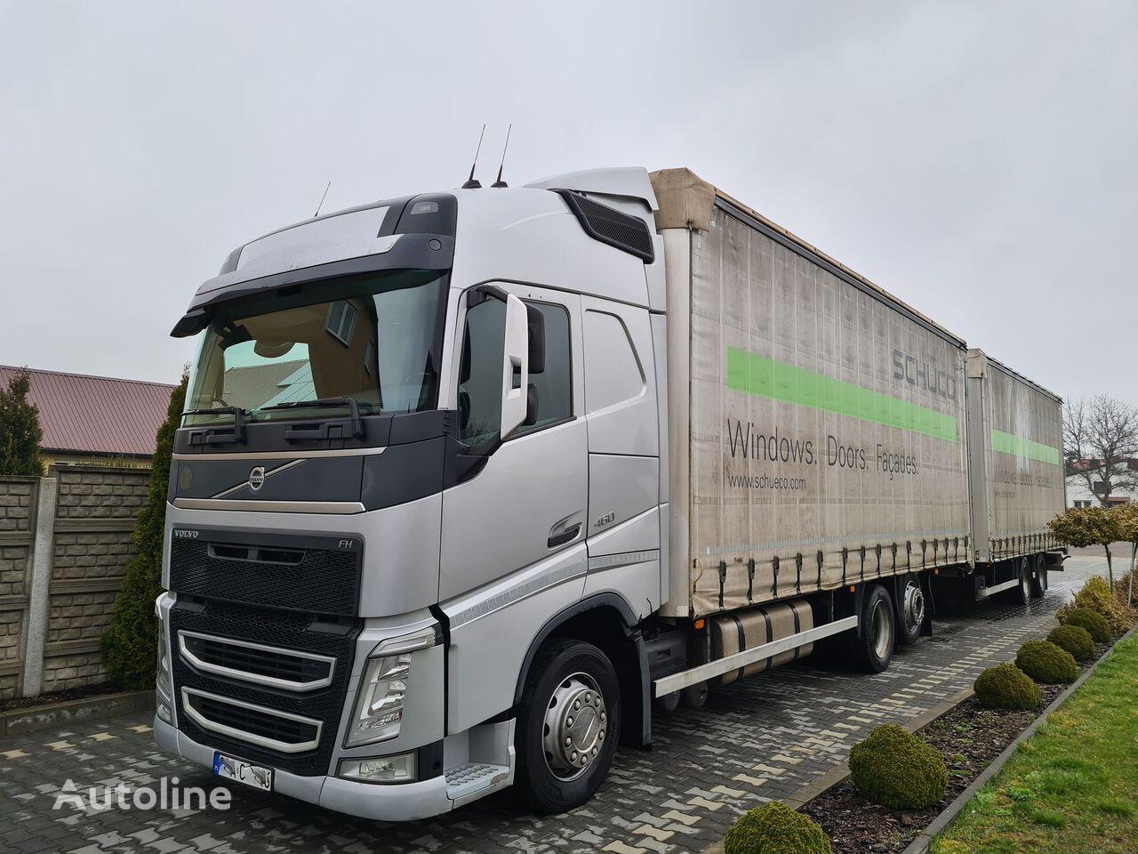 VOLVO FH4 460 EURO 5 ZESTAW TANDEM WIELTON tilt truck + tilt trailer