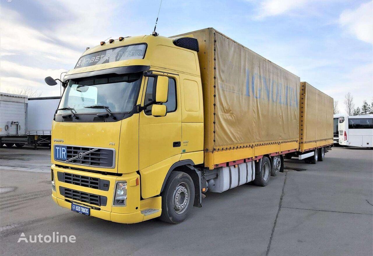 VOLVO FH440 + KRONE ZZF18 tilt truck + tilt trailer
