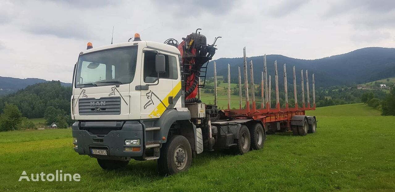 MAN TGA 33.430 6x6 + NACZEPA timber truck