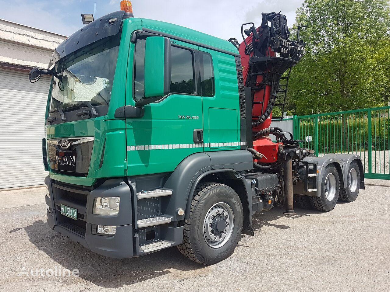 MAN TGS 26.480 6x6 H + crane Epsilon 260 timber truck