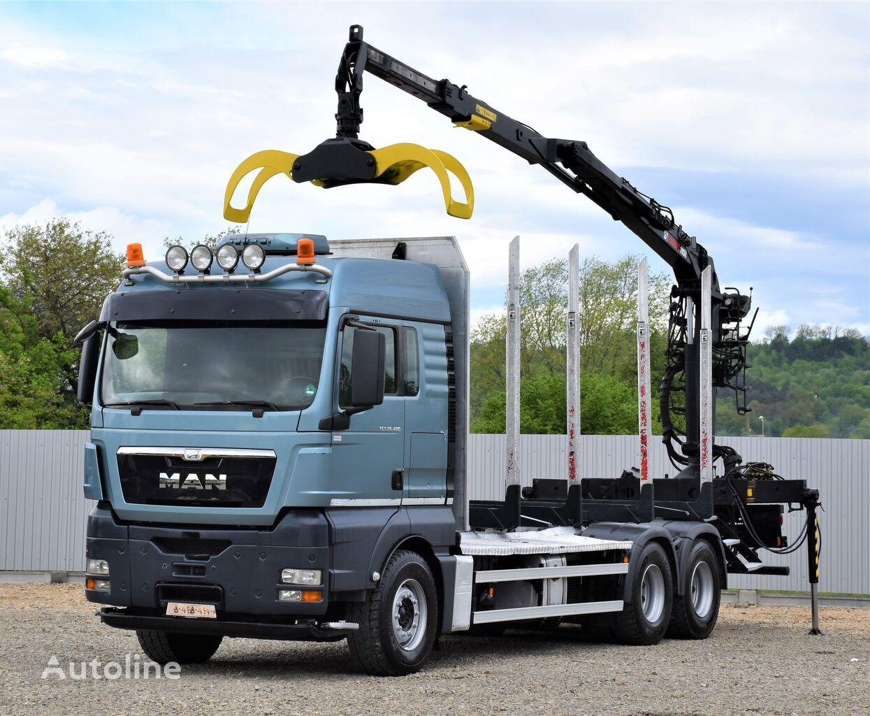 MAN TGX 26.480 Holztransporter + LOGLIFT 115Z80A/6x4 timber truck