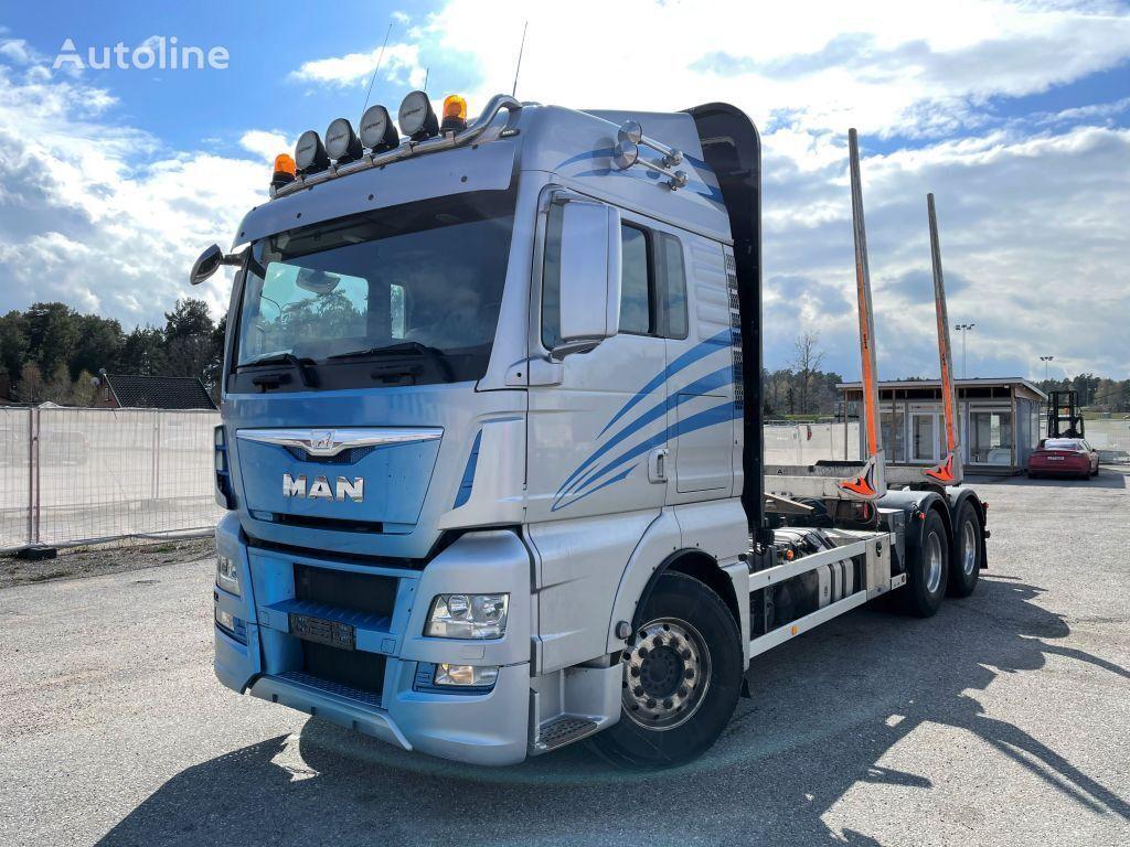 MAN TGX 26.560 6x4, Euro 6, Retarder, Timber-truck, 2015 timber truck