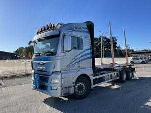 MAN TGX 26.560 6x4, Euro 6, Retarder, Timber-truck, (Crane hydraulic timber truck