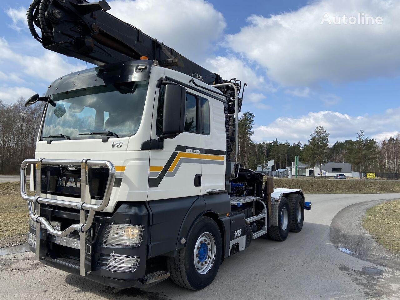 MAN TGX 33.680  EPSILON S300 timber truck