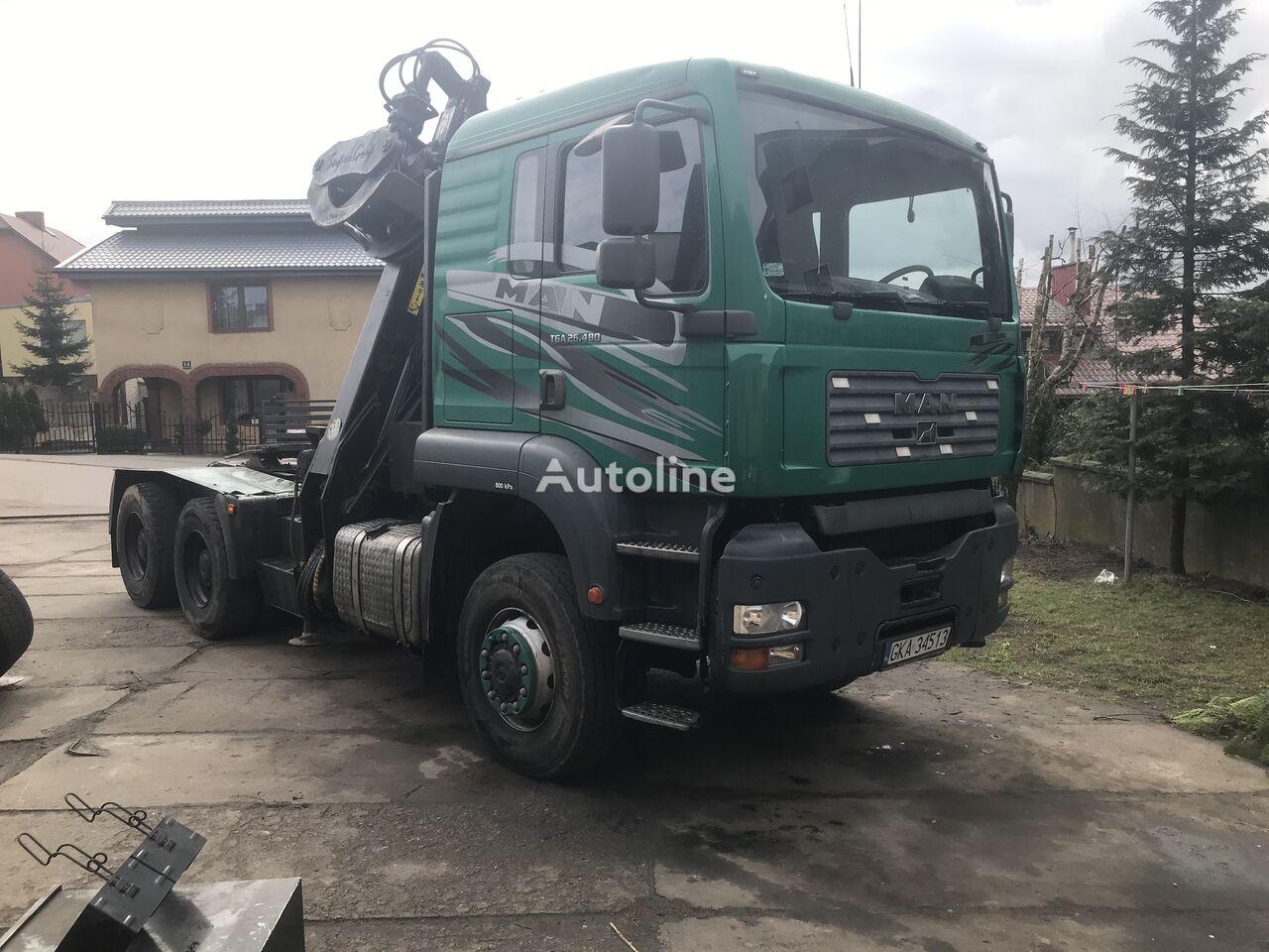 MAN Tga 26.480 6x6 timber truck