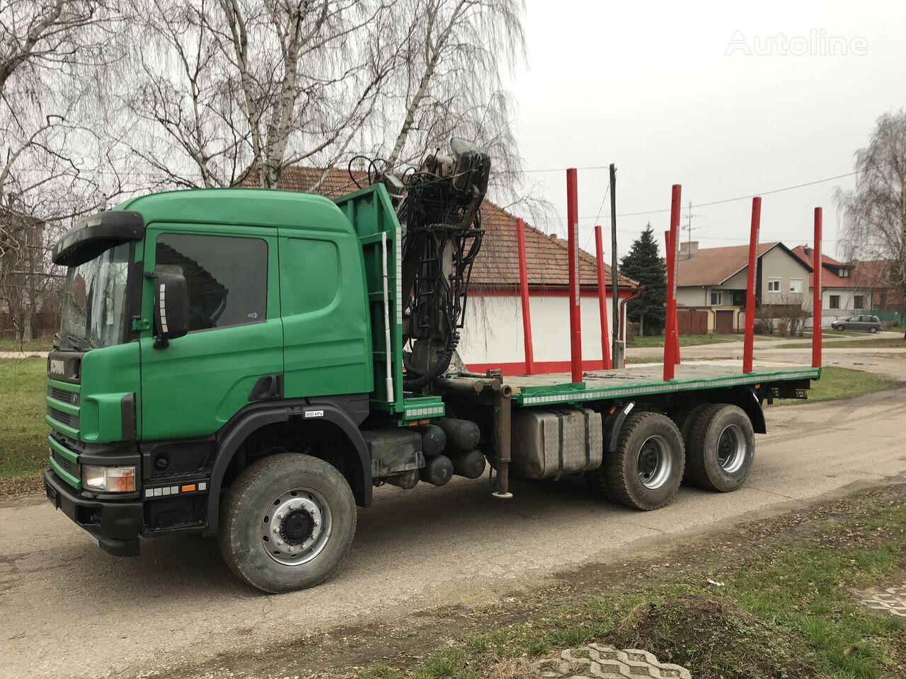 SCANIA P124 420 hpi 6x6 Penz 9100 9,5 m  timber truck