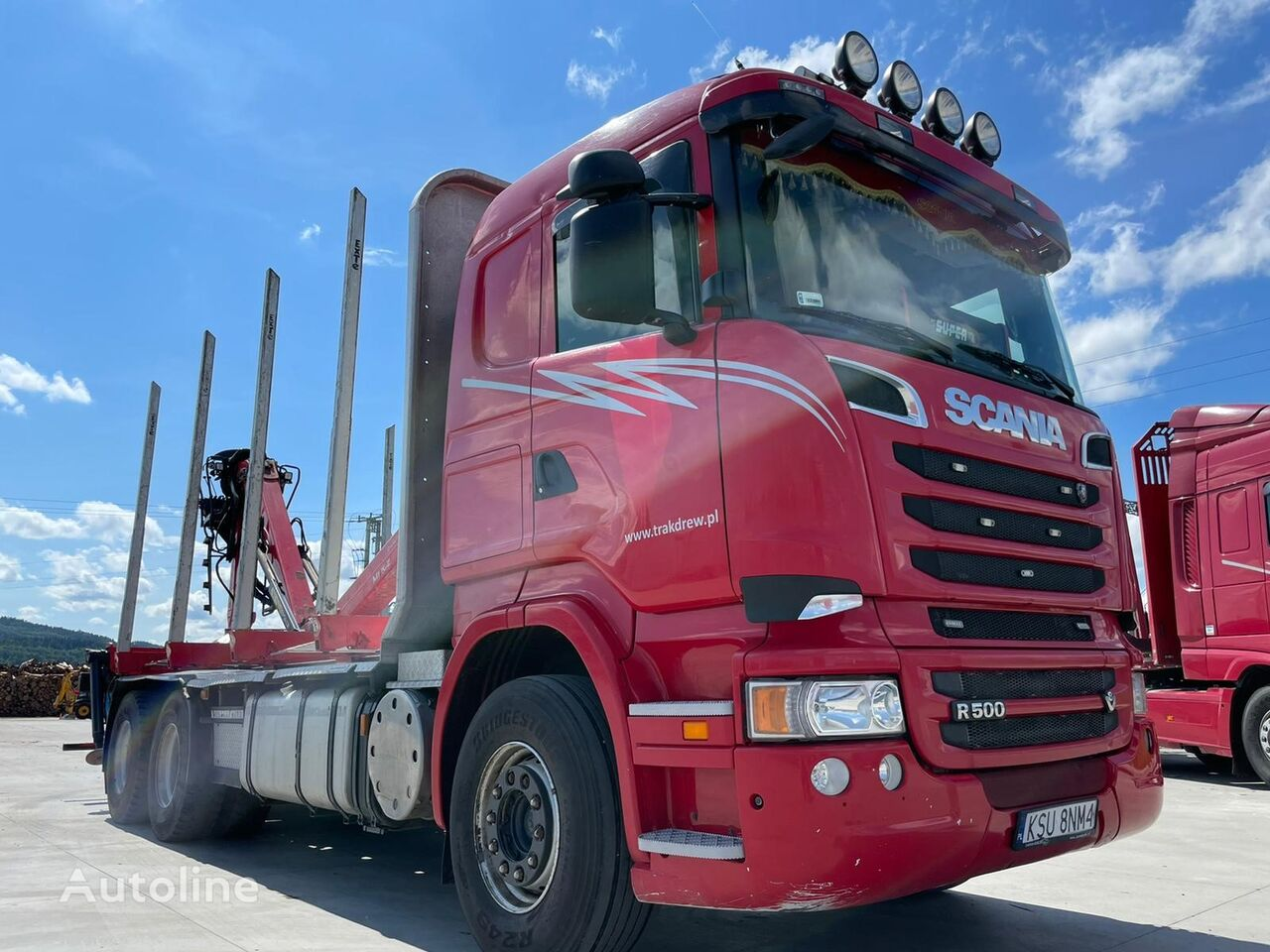 SCANIA R500 timber truck