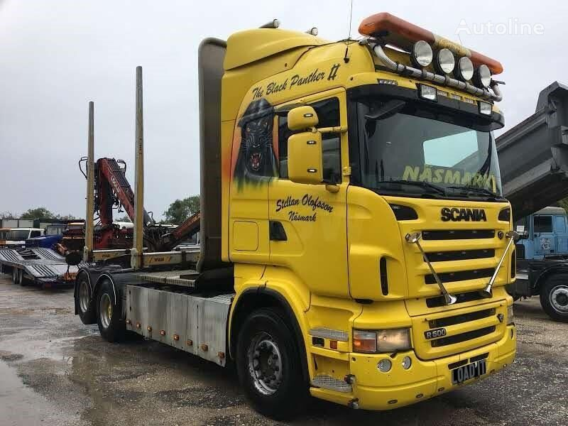 SCANIA R500 Highline Cabin year 2007 timber truck