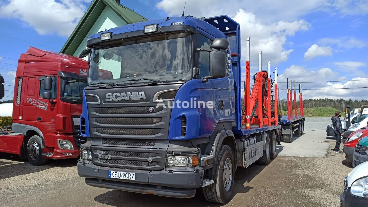 SCANIA R560 timber truck + timber trailer