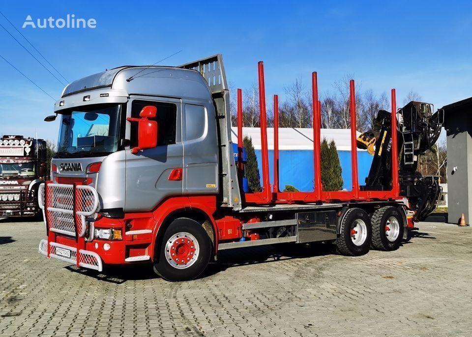 SCANIA R560 DOLL Kesla 2014 6X4 do drewna do lasu drzewo timber truck