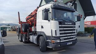 SCANIA R580 timber truck + timber trailer