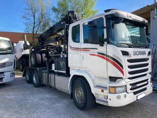 SCANIA R580 6x4 Epsilon 260 L82 Euro 6  timber truck + timber trailer