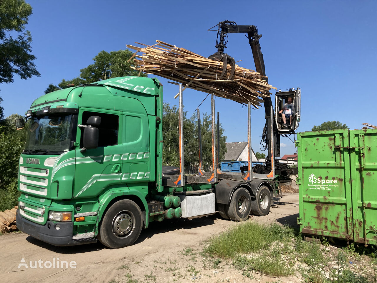 SCANIA R580 6x4 !! One kran !!! timber truck