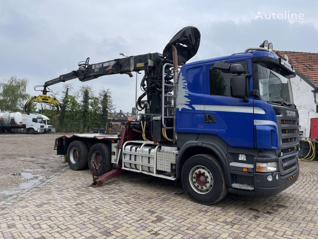 SCANIA R580-V8 6x4 loglift 281 S timber truck