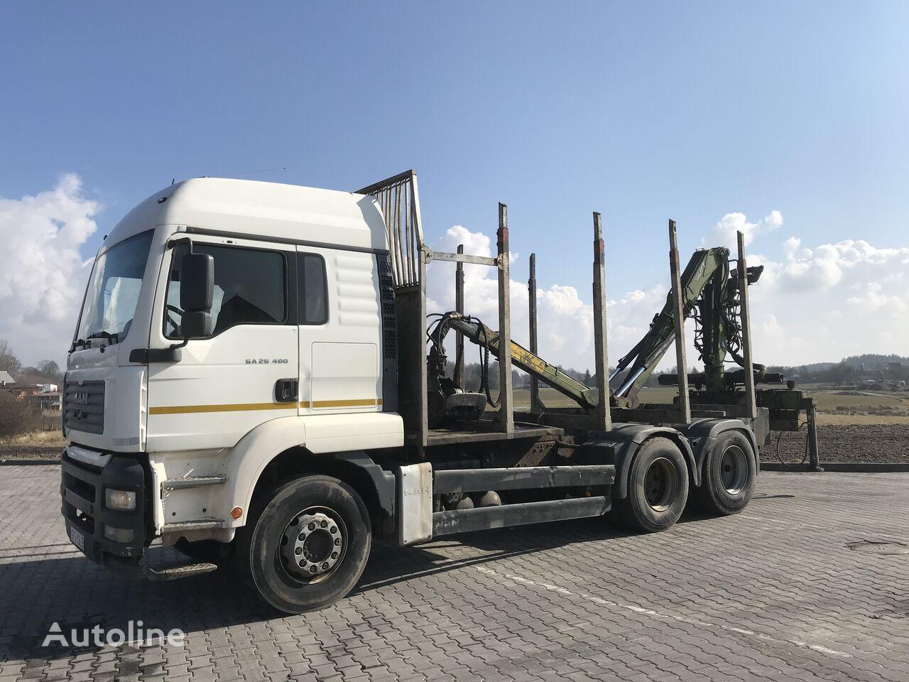 MAN Tga 26.400  timber truck