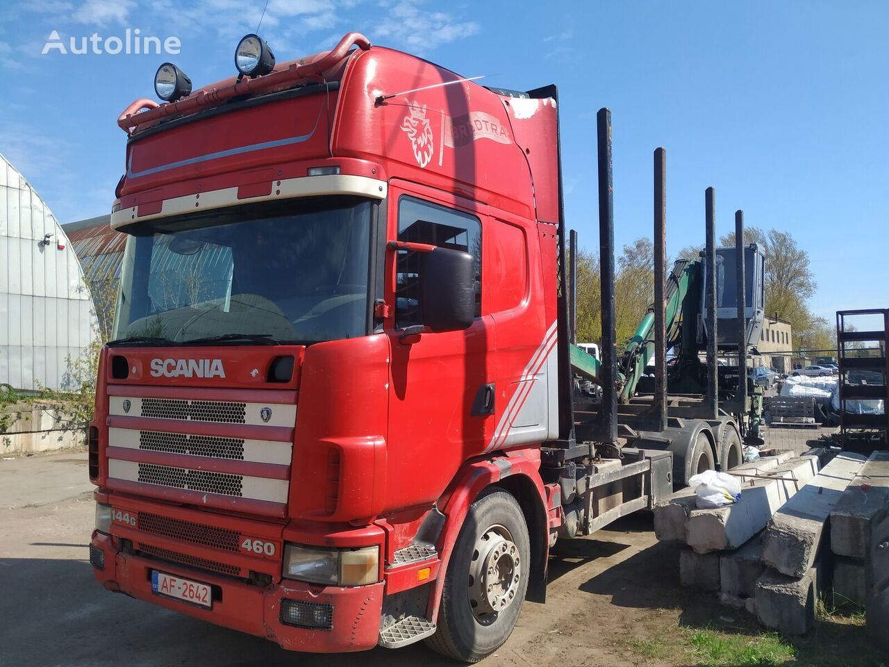 SCANIA 144 timber truck