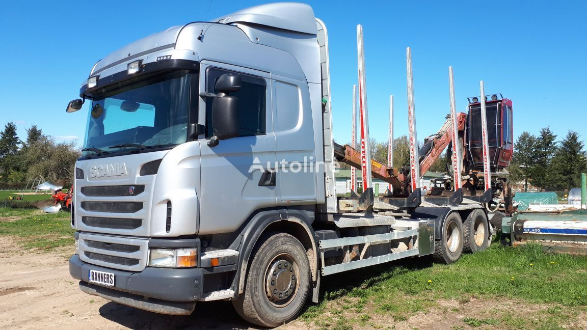 SCANIA G480 6x4 timber, loglift, retarder timber truck