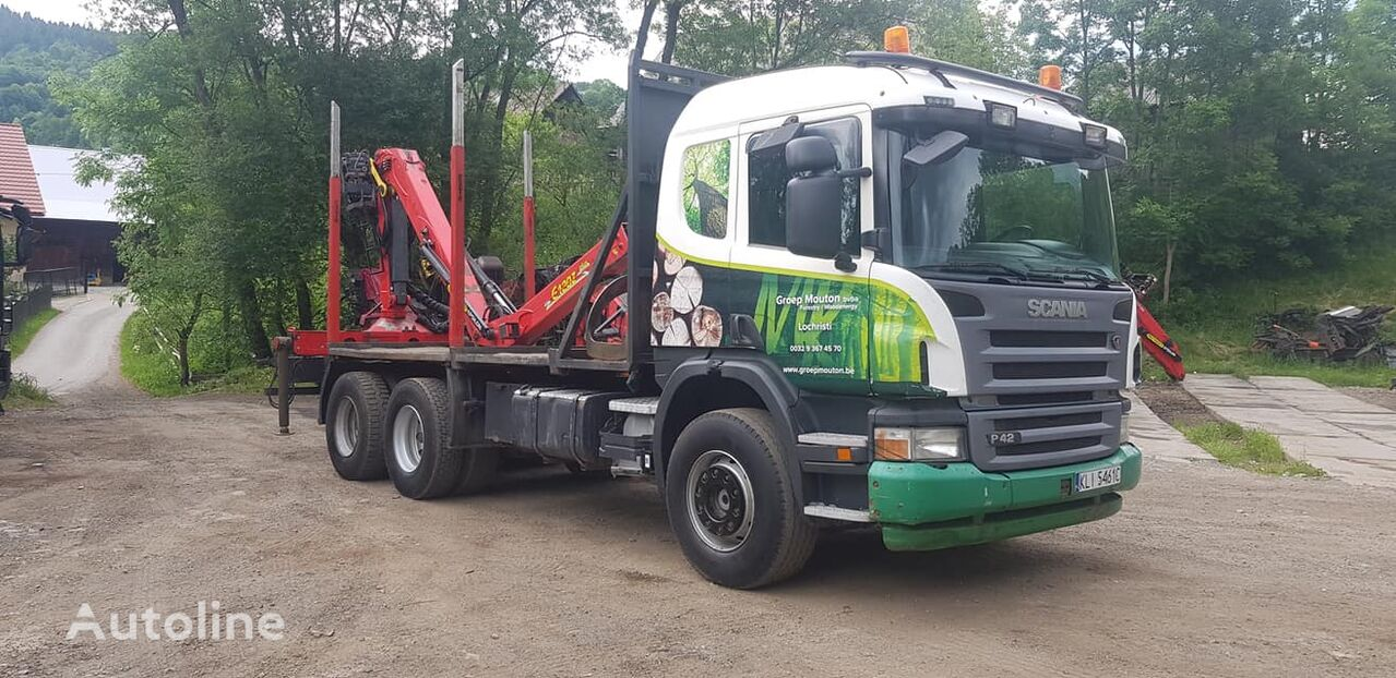 SCANIA P420 6x4 timber truck