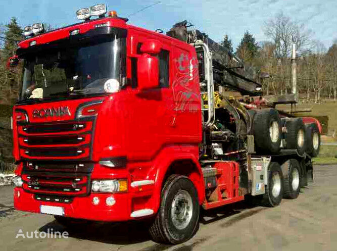 SCANIA R 580 timber truck + timber trailer
