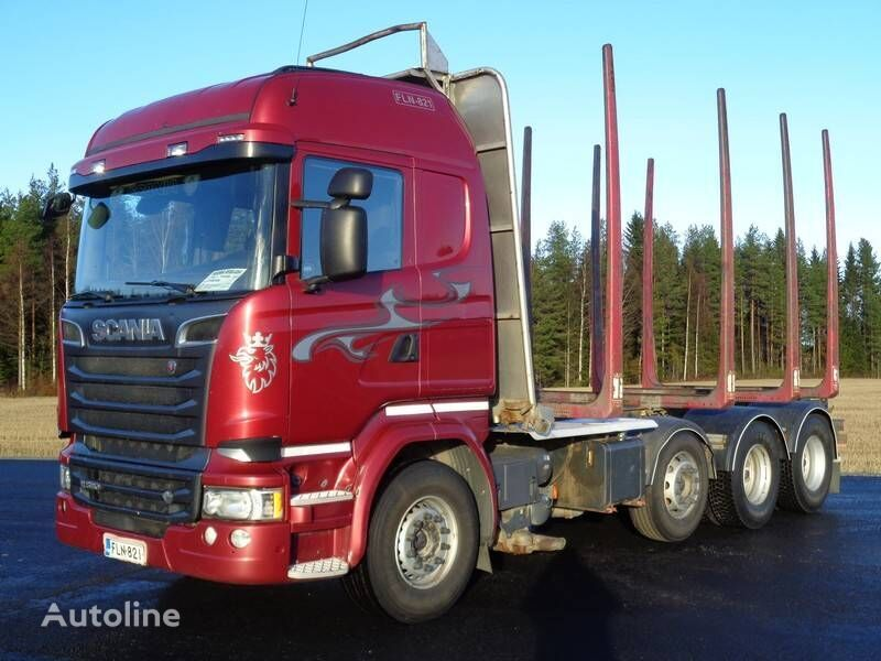 SCANIA R 580 timber truck