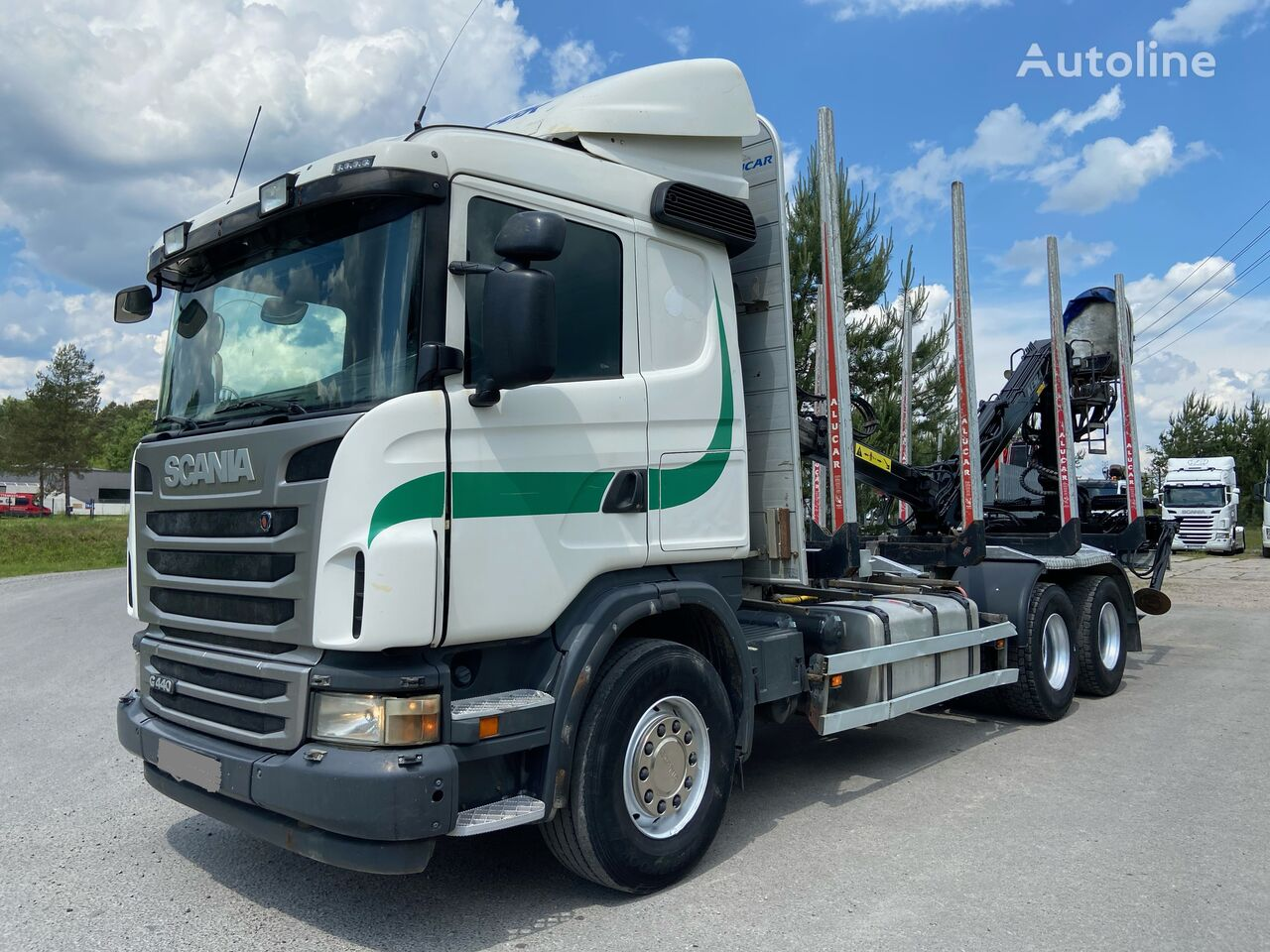 SCANIA R440 timber truck