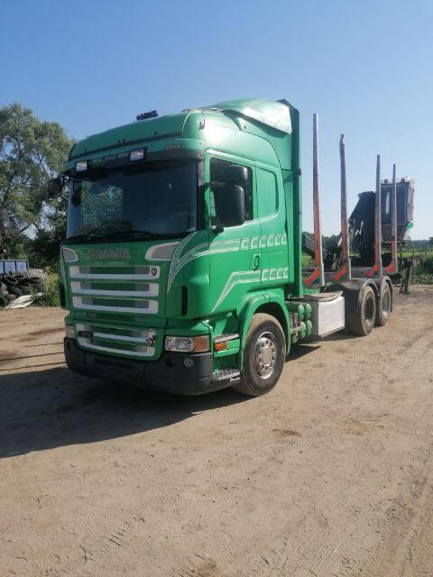 SCANIA R580 6x4 Loglift 120L timber truck