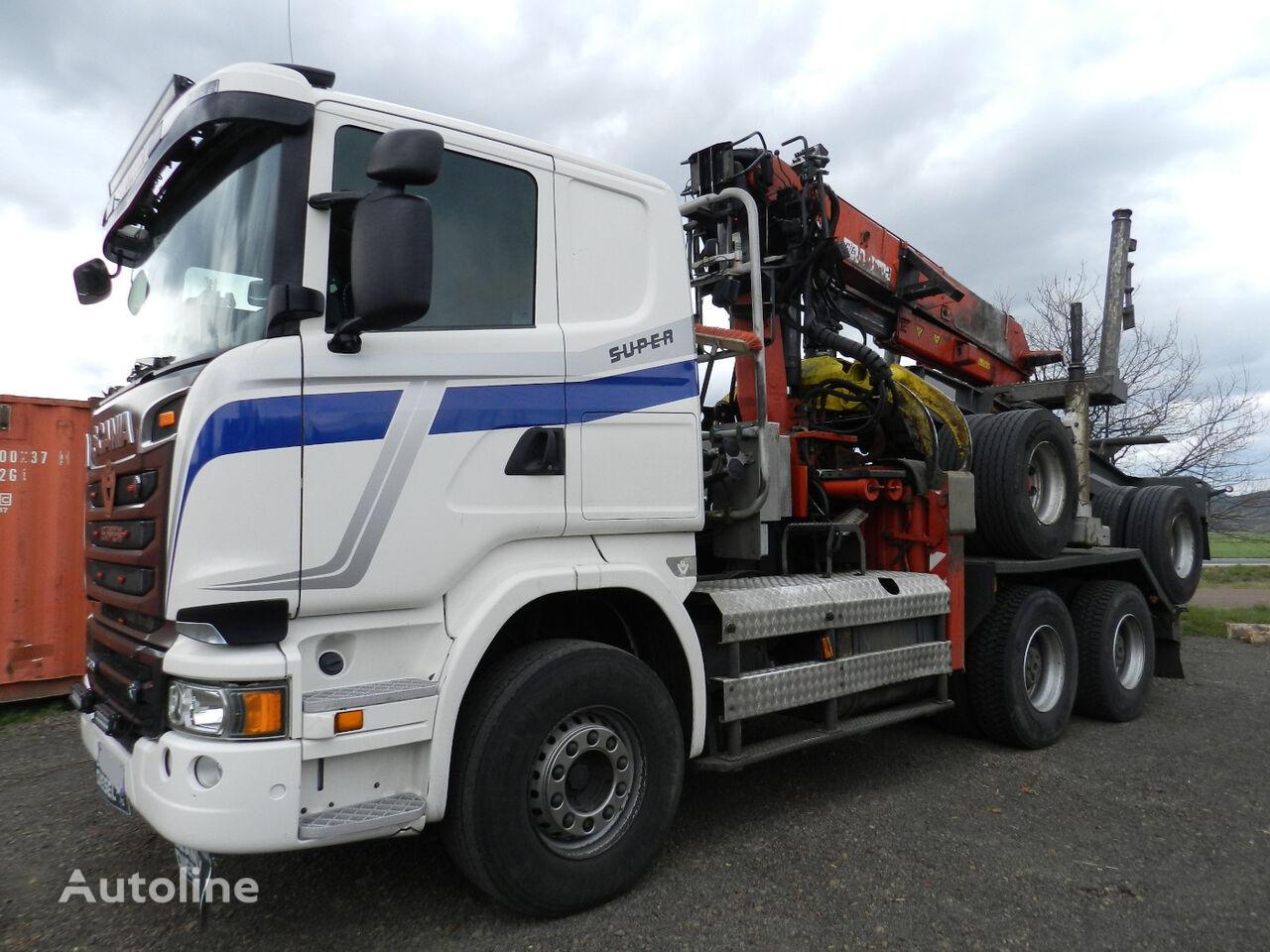SCANIA R580 V8 z przyczepa DOLL timber truck + timber trailer
