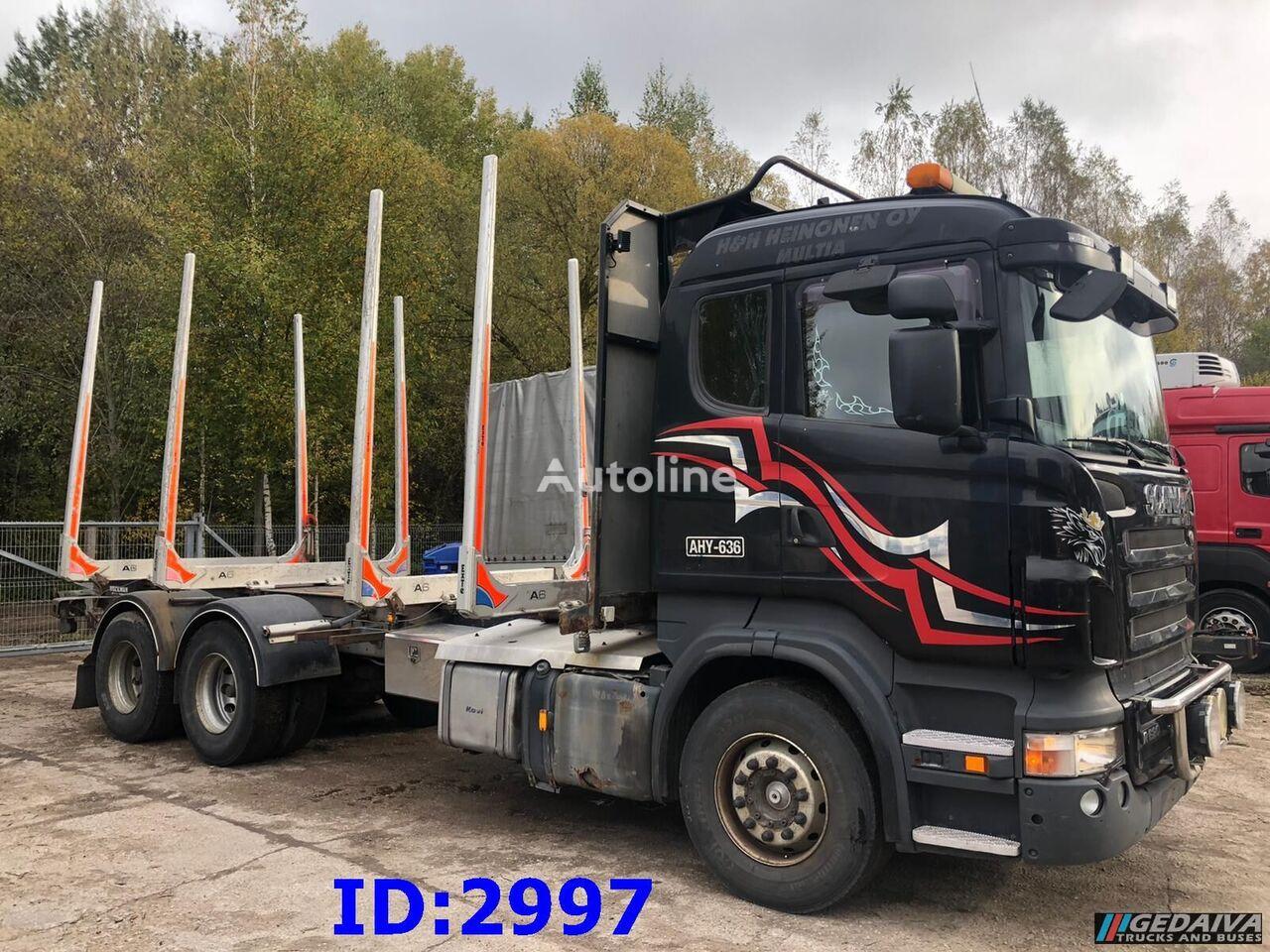 SCANIA R620 6x4 Full steel + Retarder timber truck