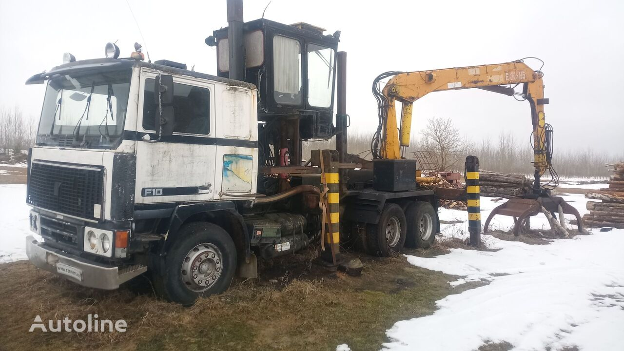VOLVO F10 truck+ crane timber truck