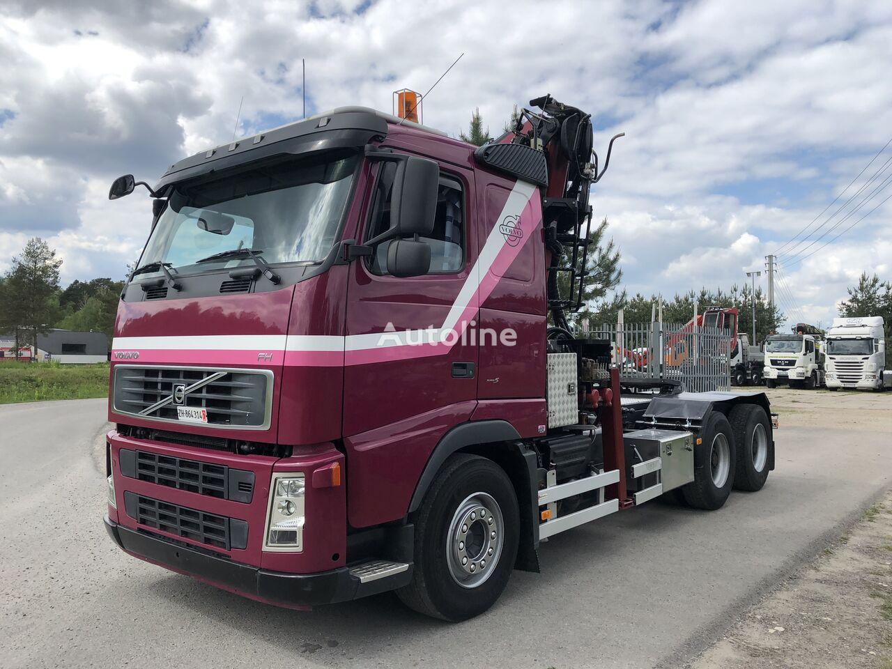VOLVO FH 13 480KM 6x4 ciągnik siodłowy z dzwigiem LIV z 2015 roku SPRO timber truck + timber trailer