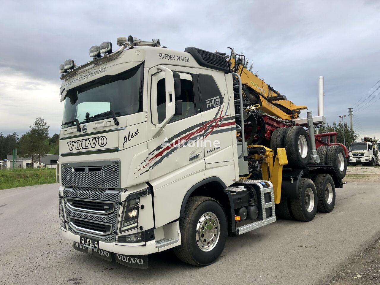VOLVO FH 16 650KM Euro6 dzwig EPSILON S300L 6x4 SPROWADZONY timber truck
