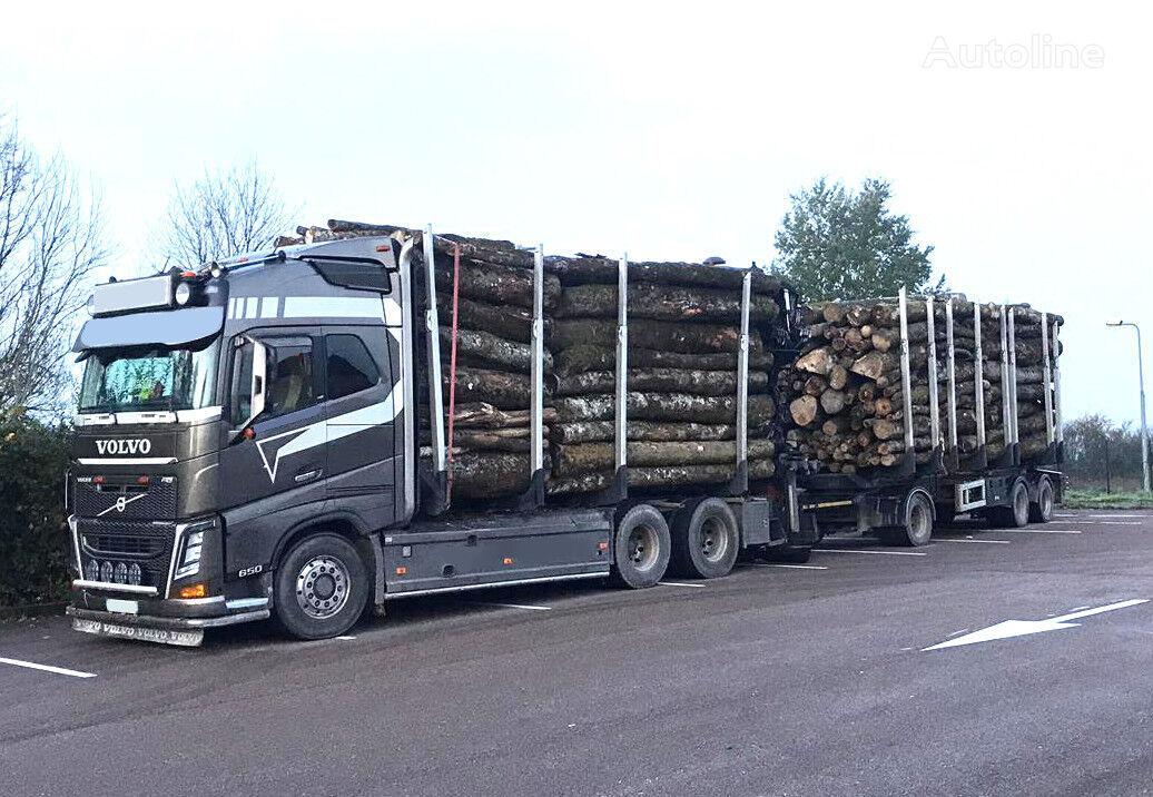 VOLVO FH 650 6x4 - 6x6 -EPSILON Q170Z - Trailer TRAX  timber truck + timber trailer