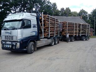 VOLVO FH16 550 timber truck + timber trailer