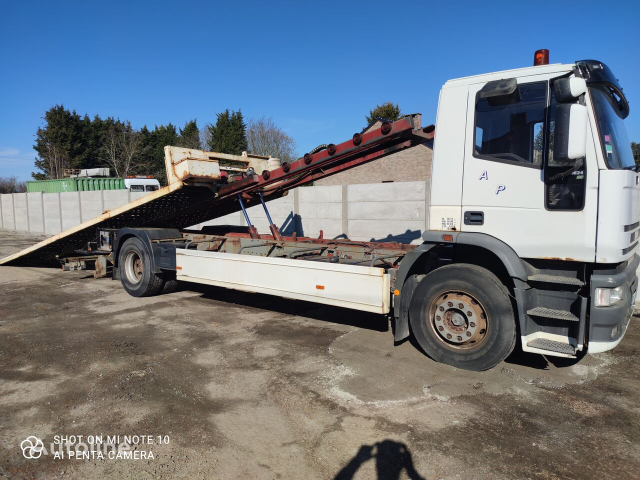 IVECO EUROTECH 190E24  PLATEAU COULISSANT+TREUIL tow truck