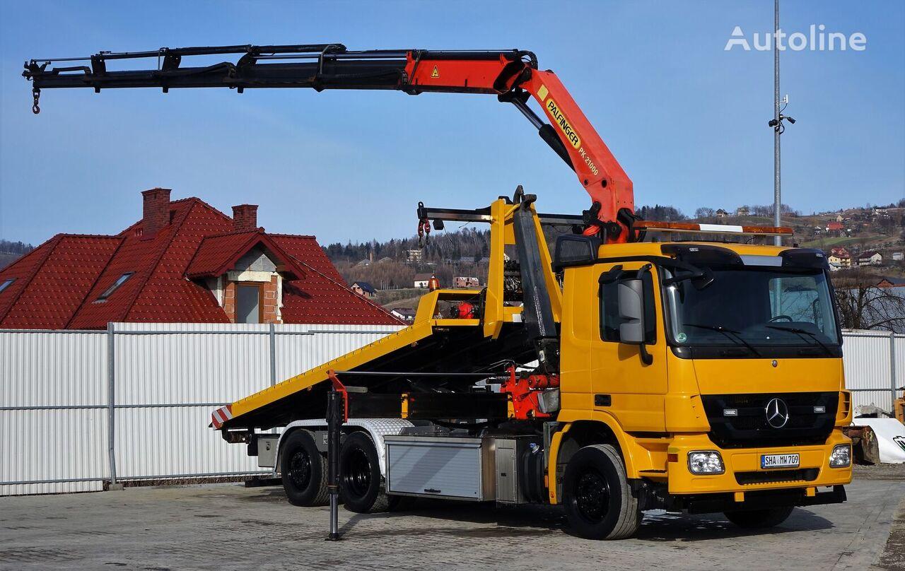 MERCEDES-BENZ  Actros 2544 Abschleppwagen 5,30m + Kran PK21000! tow truck