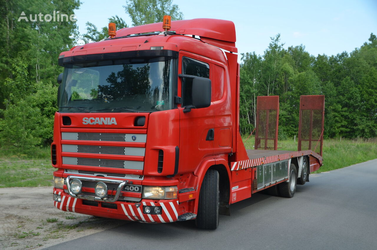 SCANIA 124 L tow truck
