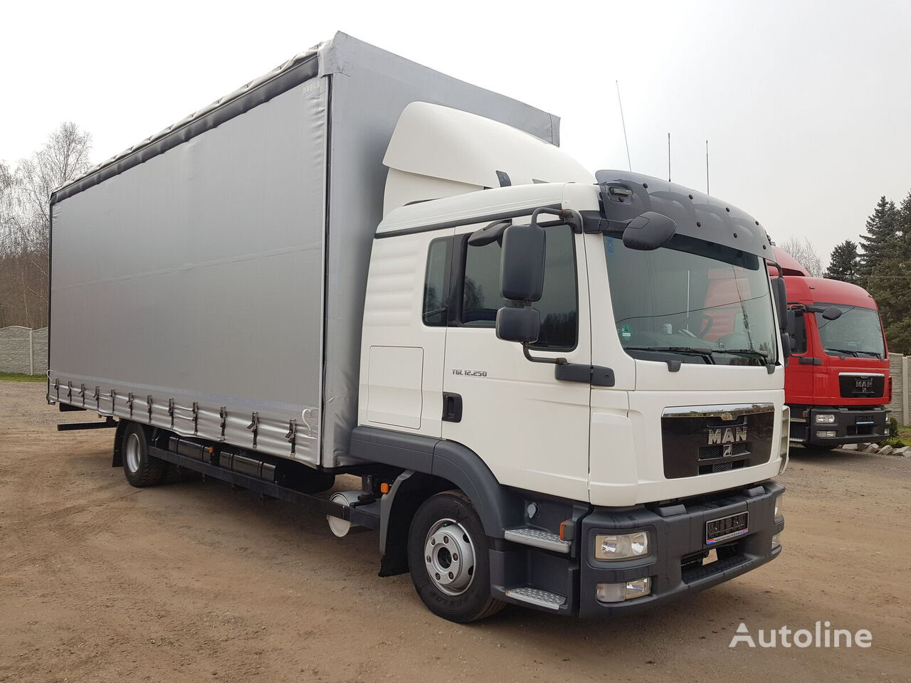MAN TGL 12.250 / EURO 5 / MANUAL / FIRANKA 7,70 M truck curtainsider