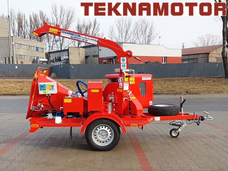 new TEKNAMOTOR Skorpion 160SD wood chipper